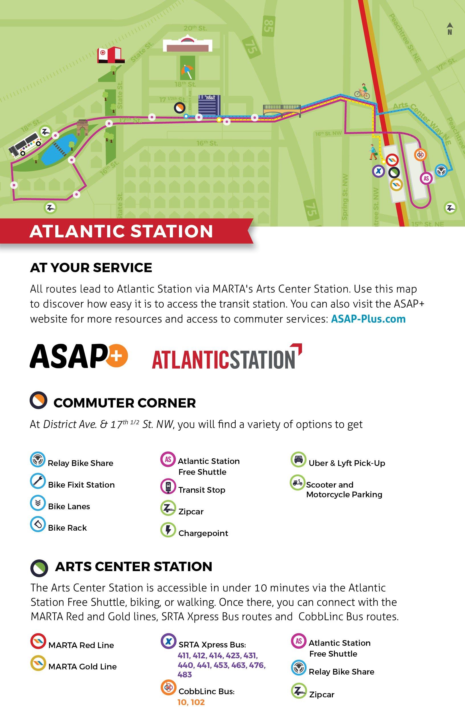 Atlantic Station Map
